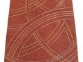 Décor abstrait de courbes entrecroisées à la feuille d'or et de palldium
