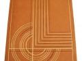 Décor géométrique de courbes et droites au froid naturel et à la feuille d'or