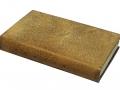Plein veau, empreintes de fils métalliques poncées