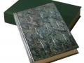 Bradel plein aluminium à décor géométrique et boite à chasses