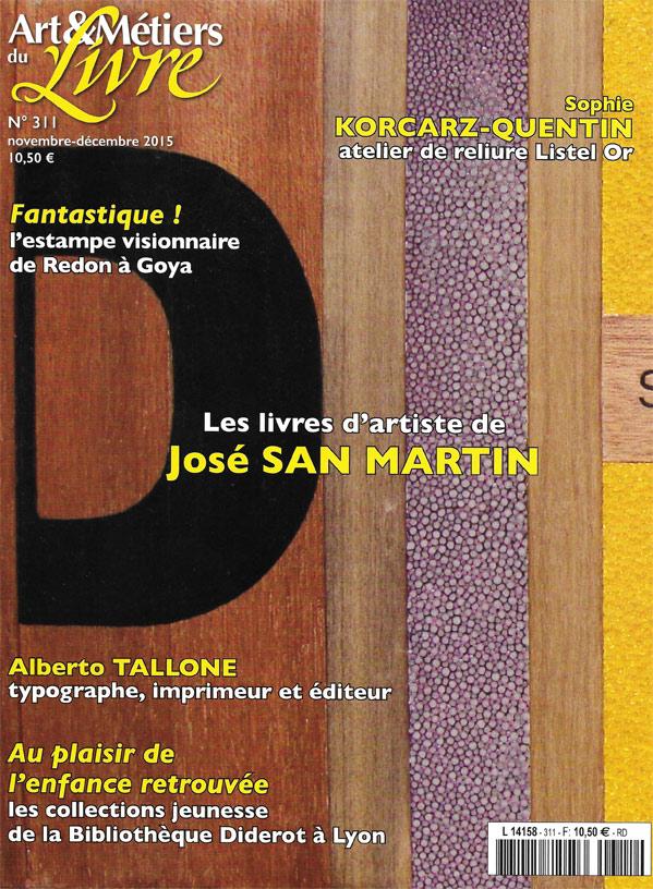 Atelier de reliure Listel Or Paris 18 dans Art & Métiers du Livre Nov 2015