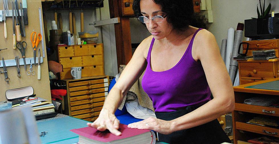 Sophie Quentin Listel Or artisan relieur à Paris