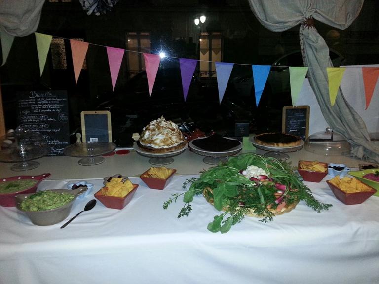 Buffet entrées et desserts chez Petit pois 11 Décembre 2015